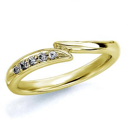 ペアリング(女性用) 結婚指輪 マリッジリング 結婚記念 K18イエローゴールド ダイヤモンドリング 《Wish M0181L》 【刻印無料 ケース付き 送料無料】 【0420】