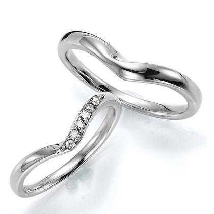 ペアリング(2本セット) 結婚指輪 マリッジリング 結婚記念 プラチナ900 《Wish M0240》 ダイヤモンドリング ギフト 【刻印無料 ケース付き 送料無料】 【A】