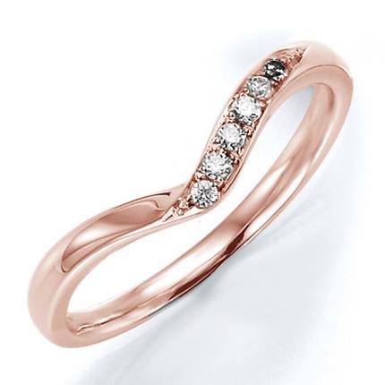 ペアリング(女性用) 結婚指輪 マリッジリング 結婚記念 K18ピンクゴールド ダイヤモンドリング 《Wish M0240L》 【刻印無料 ケース付き 送料無料】 【A】