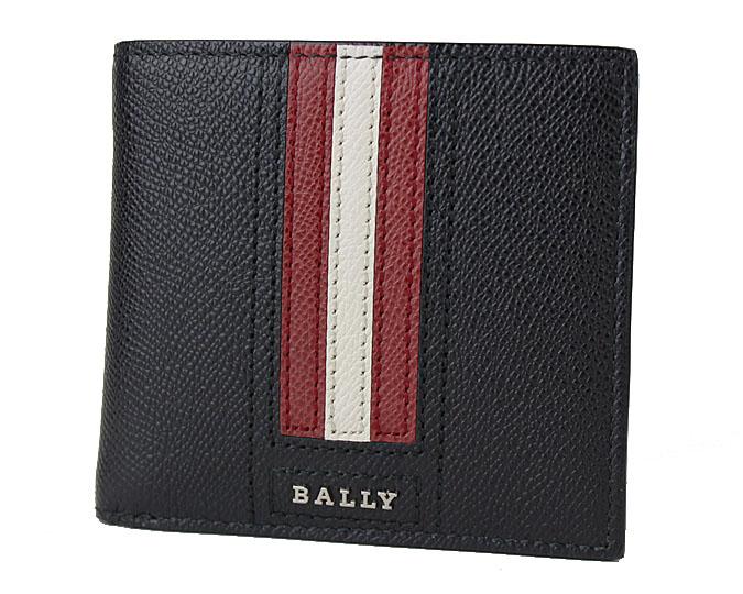 BALLY  ≪バリー≫ ふたつ折り財布 TEISEL LT 6219953-210 ブラック(BLACK) 牛革 カーフレザー  【送料無料】【セール】