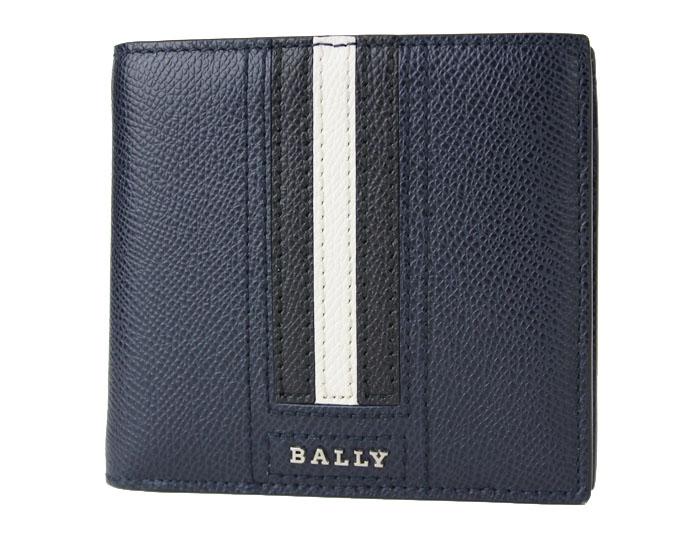 BALLY  ≪バリー≫ ふたつ折り財布 TEISEL LT 6219955-217 ネイビーブルー(NEW BLUE) 牛革 カーフレザー  【送料無料】【セール】