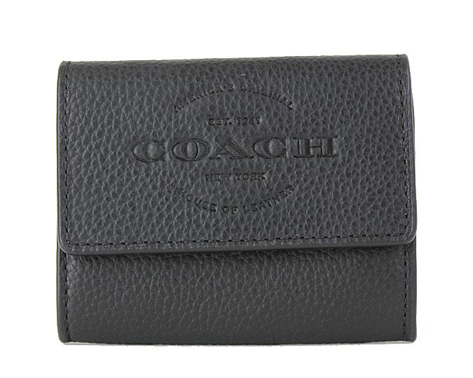 COACH 《コーチ》 F24652 BLK コインケース カード入れ付き ブラック 牛革 レザー 【セール】