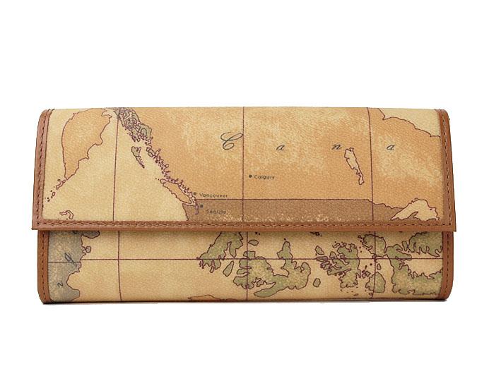 PRIMA CLASSE  ≪プリマクラッセ≫長財布 /W018 -6000 (#62) 世界地図柄 折財布 【送料無料】【★セール価格】