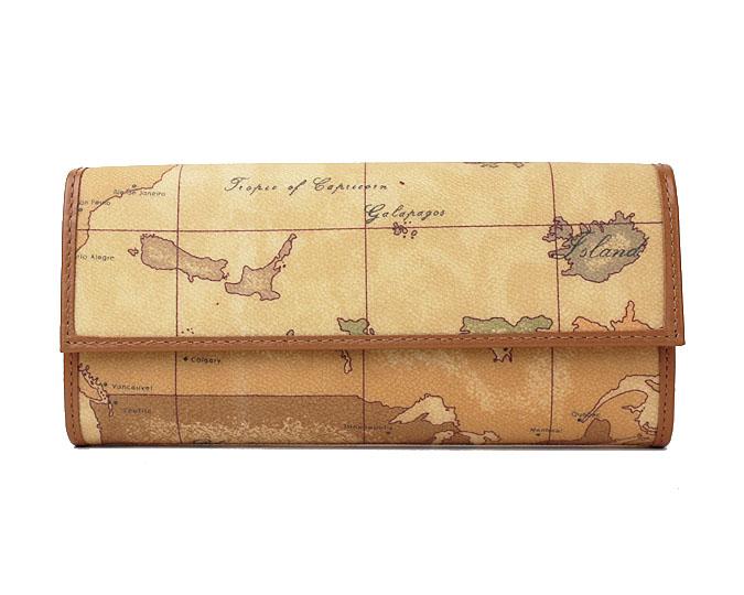 PRIMA CLASSE  ≪プリマクラッセ≫長財布 /W018 -6000 (#63) 世界地図柄 折財布 【送料無料】【★セール価格】