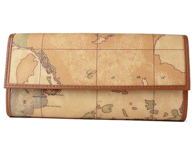 PRIMA CLASSE  ≪プリマクラッセ≫長財布 /W018 -6000 (#75) 世界地図柄 折財布 【送料無料】【★セール価格】