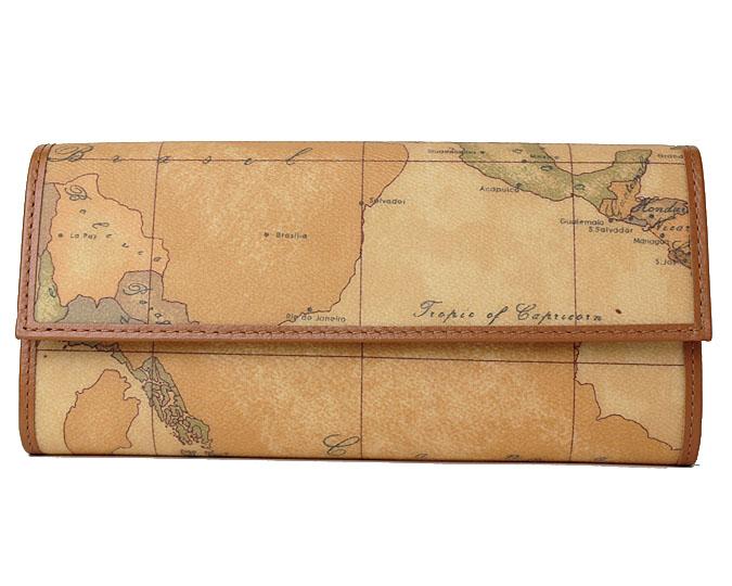 PRIMA CLASSE  ≪プリマクラッセ≫ 長財布  W018 -6000 (#80) 世界地図柄 ※実際にお送りする柄目は掲載写真1~2枚目をご参照下さい。 長サイフ 折財布 【送料無料】【セール価格】