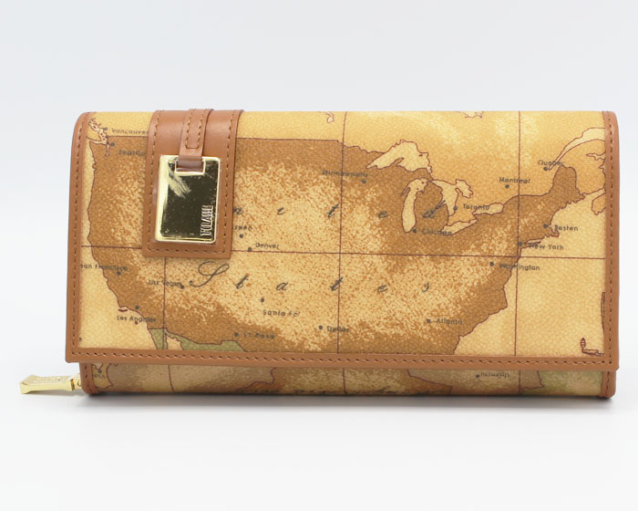 PRIMA CLASSE  ≪プリマクラッセ≫長財布 / W026 -6000 (#86) 世界地図柄 ※実際にお送りする柄目は1~2枚目をご参照ください。 3枚目以降はイメージ画像です。 【★セール価格】