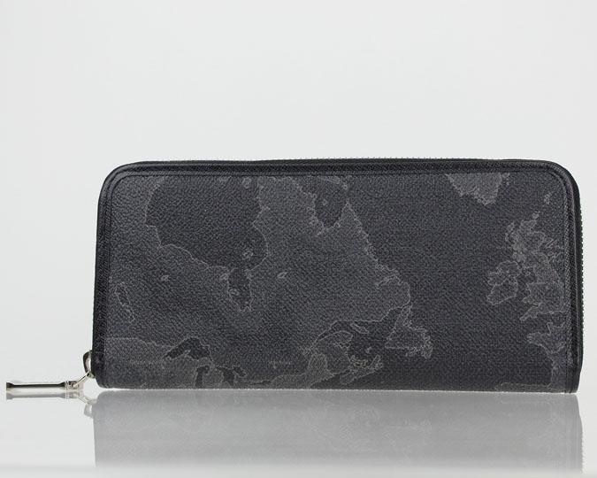 PRIMA CLASSE  ≪プリマクラッセ≫ ラウンドファスナー長財布 / W057 -6426 #21 ブラック 世界地図柄 (画像1、2枚目の柄目をお送りします。) 【★セール価格】