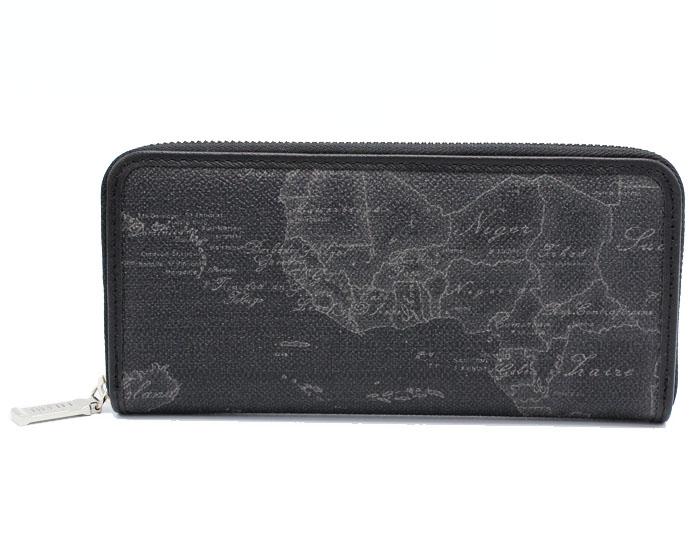 PRIMA CLASSE  ≪プリマクラッセ≫ ラウンドファスナー長財布 / W057 -6426 (#63) ブラック 世界地図柄 (画像1、2枚目の柄目をお送りします。) 【送料無料】【★セール価格】