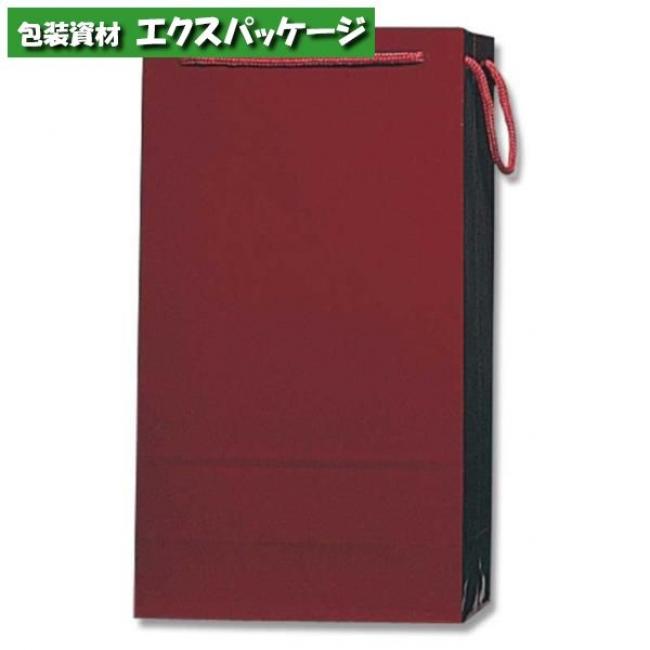 【シモジマ】ブライトバッグ ワイン2本 エンジ 50枚入 #006459300 【ケース販売】