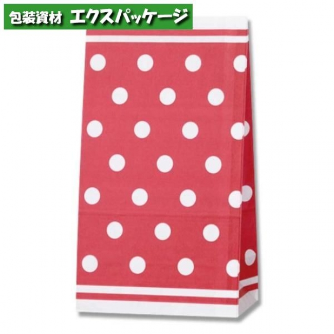 【シモジマ】角底袋 シンプルドットR No.4 2000枚入 #004044400 【ケース販売】