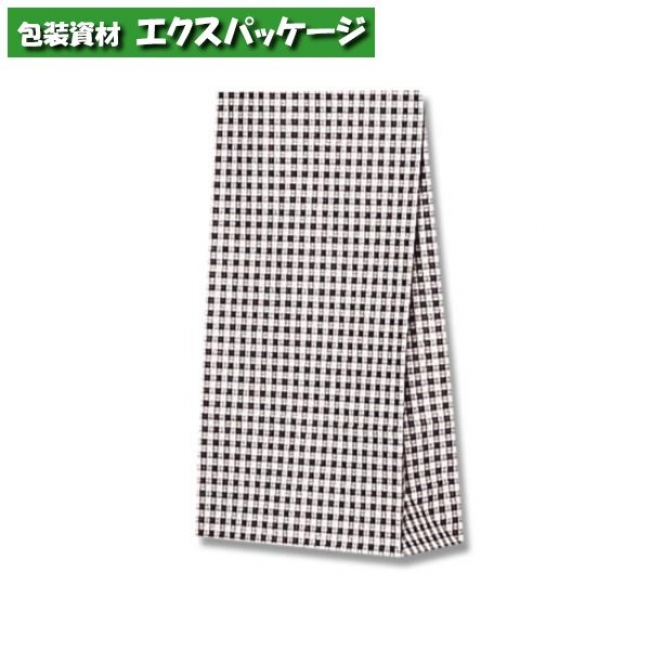 【シモジマ】ファンシーバッグ S2 ギンガムミニクロ 2000枚入 #003079301 【ケース販売】