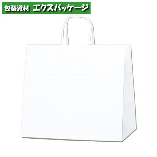 【シモジマ】25チャームバッグ 32-4 片艶120g 白無地 200枚入 #003268000 【ケース販売】