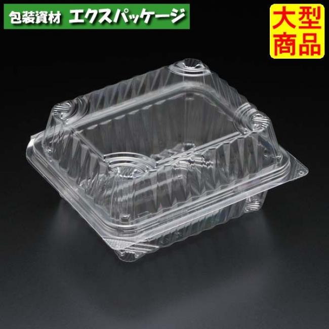 【スミ】ユニコン LS-257-10 透明 1200枚入 本体・蓋一体 5557210 Vol.22P56 【ケース販売】