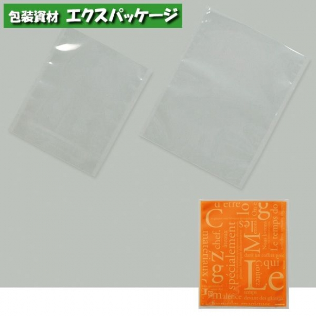 【福助工業】カマス袋 カマスGT (透明タイプ) No.3洋柄オレンジ 4000枚 0801992 【送料無料】 【ケース販売】