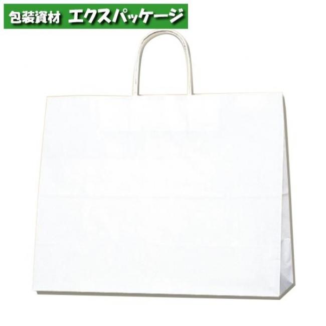 【シモジマ】25チャームバッグ 38-3 片艶100g 白無地 200枚入 #003272100 【ケース販売】