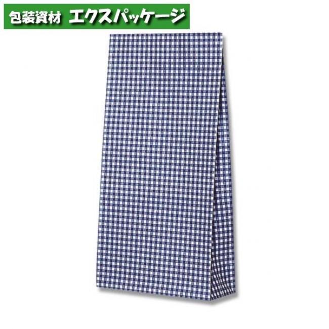 ファンシーバッグ S4 ギンガムミニ 青 1500枚入 #003079500 ケース販売 取り寄せ品 シモジマ