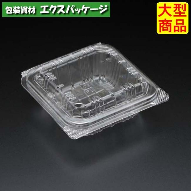 ユニコン 角1 透明 1500枚入 本体・蓋一体 5KK1110 ケース販売 取り寄せ品 スミ