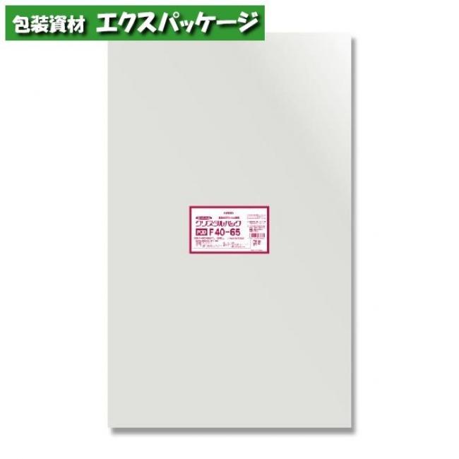 40-65 クリスタルパックF 取り寄せ品 0.03mm (フレームシール) 500枚入 バラ販売 OPP袋 #006752923 シモジマ