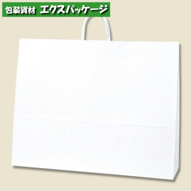 25チャームバッグ 60-2 片艶120g 白無地 100枚入 #003299800 ケース販売 取り寄せ品 シモジマ