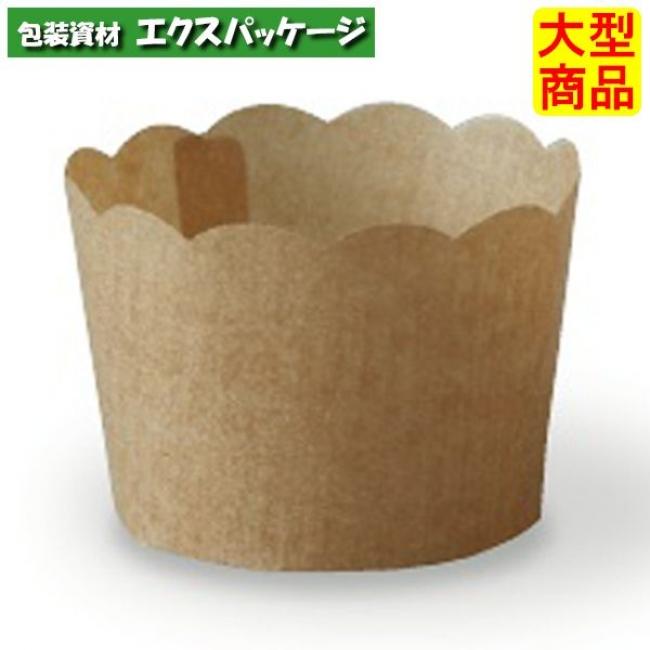 【天満紙器】ペルガミンミニカップ 茶無地 PM360 2643062 1500枚入 【ケース販売】