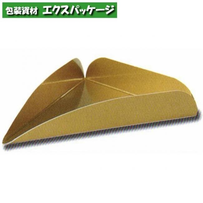 【天満紙器】CP-153 ケーキプレート トルテ・8カット (ゴールド) 2000入 2780523 【ケース販売】