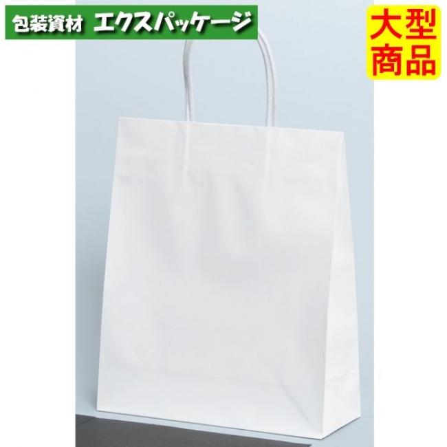 手提袋 STB プリティ 白無地 XZT00805 100枚入 ケース販売 取り寄せ品 パックタケヤマ