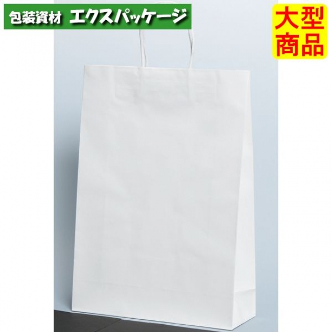 手提袋 ST2才 プリティ 白無地 XZT00832 100枚入 ケース販売 取り寄せ品 パックタケヤマ