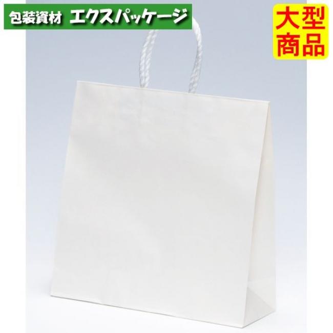 手提袋 3才 白無地 XZT00798 200枚入 ケース販売 取り寄せ品 パックタケヤマ