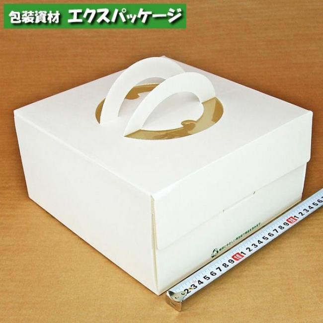 【ヤマニパッケージ】手提げデコ箱 エコ版 ホワイト 7号 トレー無し DE-56 100入 【ケース販売】