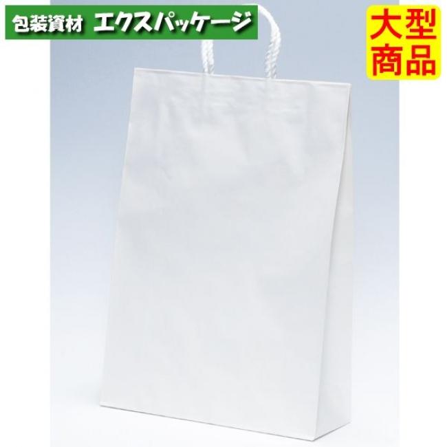 【パックタケヤマ】手提袋 2才 白無地 XZT00795 200入 【ケース販売】