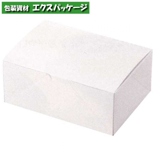 ケーキ箱 白のワンタッチサービス箱 #6 20-7 500枚入 ケース販売 取り寄せ品 ヤマニパッケージ
