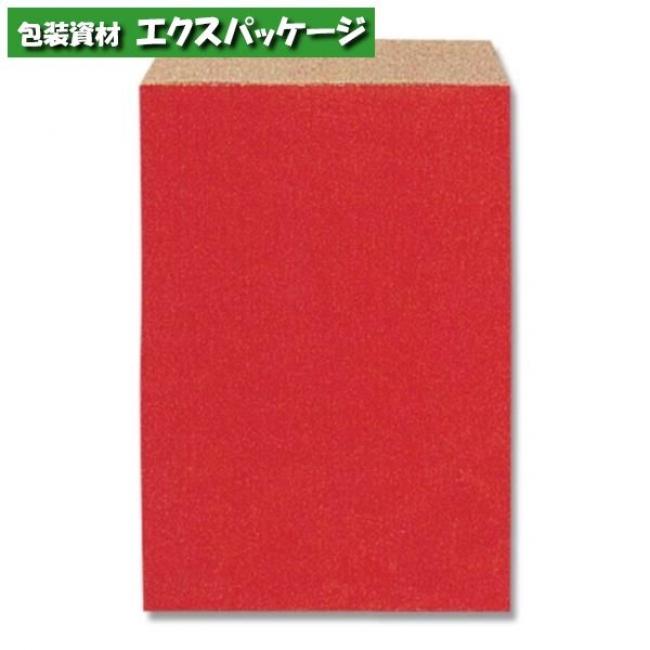 【シモジマ】柄小袋 Rタイプ R-85 筋入無地赤 6000枚入 #006527002 【ケース販売】