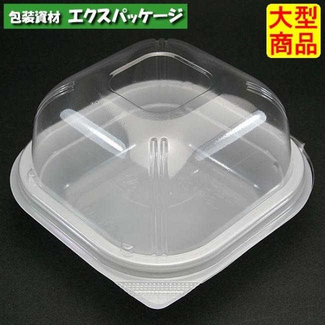 ユニコン LS-角120ドーム W(白) 1000枚入 本体・蓋一体 5K12151 ケース販売 大型商品 取り寄せ品 スミ