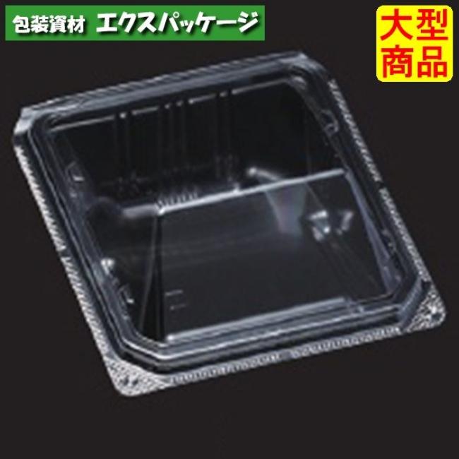 ユニコン LS-角55 透明 本体・蓋一体 1000枚入 5K55110 ケース販売 取り寄せ品 スミ