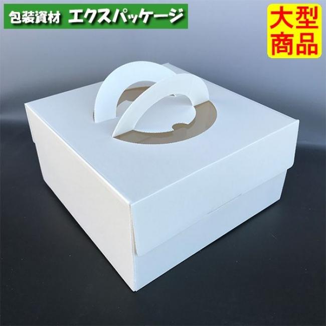 ケーキ箱 エコデコ 6号 トレー無 DE-55 100枚入 ケース販売 取り寄せ品 ヤマニパッケージ