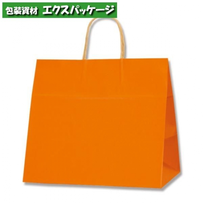 25チャームバッグ 32-4 未晒色無地 オレンジC 200枚入 #003268711 ケース販売 取り寄せ品 シモジマ