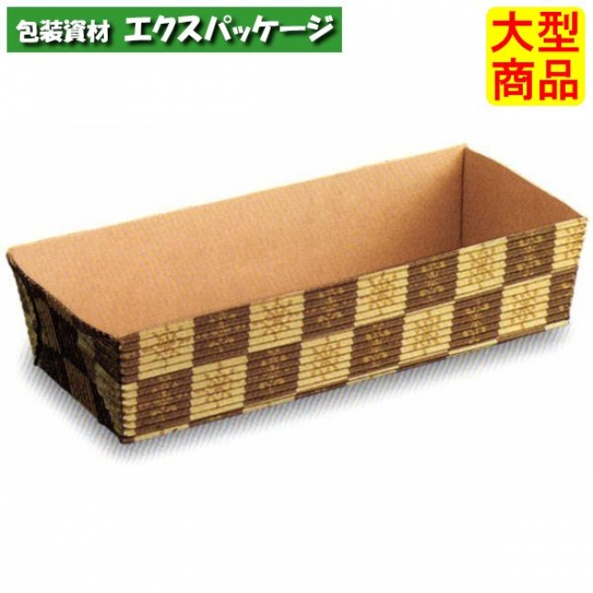 【天満紙器】CT503 ベーキングトレー (茶ブロック) 600入 3810100 【ケース販売】
