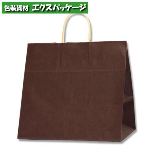 25チャームバッグ 34-1 未晒色無地 焦茶C 200枚入 #003269406 ケース販売 取り寄せ品 シモジマ