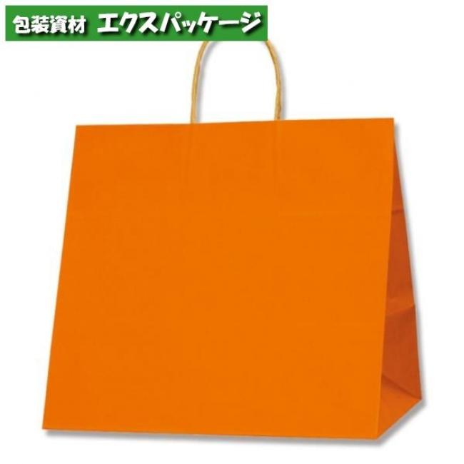 25チャームバッグ 34-1 未晒色無地 オレンジC 200枚入 #003269411 ケース販売 取り寄せ品 シモジマ