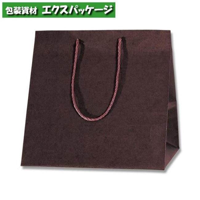 カラーアレンジバッグ M 焦茶 50枚入 #006441021 ケース販売 取り寄せ品 シモジマ