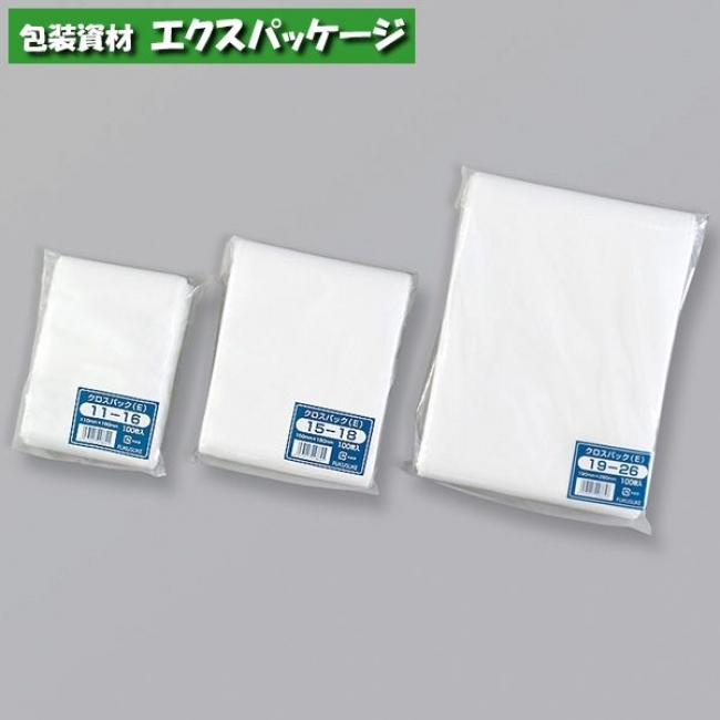 クロスパック(E) 14-17 平袋 4000枚 0132462 ケース販売 取り寄せ品 福助工業