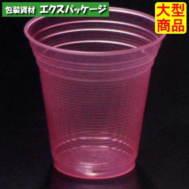 【シンギ】デザートカップ PPスタンダード PP88-300 スケルトン レッド 800入 【ケース販売】