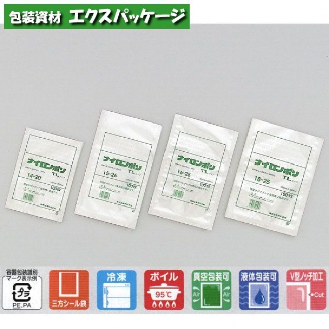 【福助工業】ナイロンポリ TLタイプ 24-36 1000入 0702897 【ケース販売】