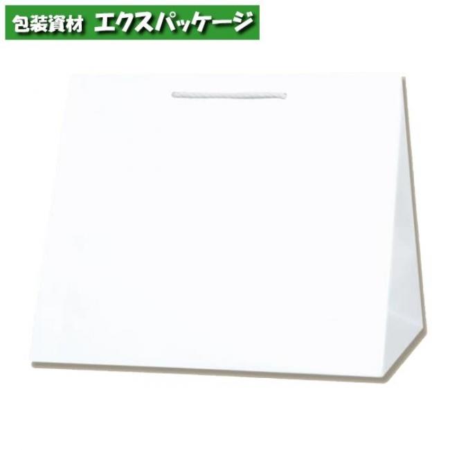 T型チャームバッグ W3 晒140g 白無地 100枚入 #003160800 ケース販売 取り寄せ品 シモジマ