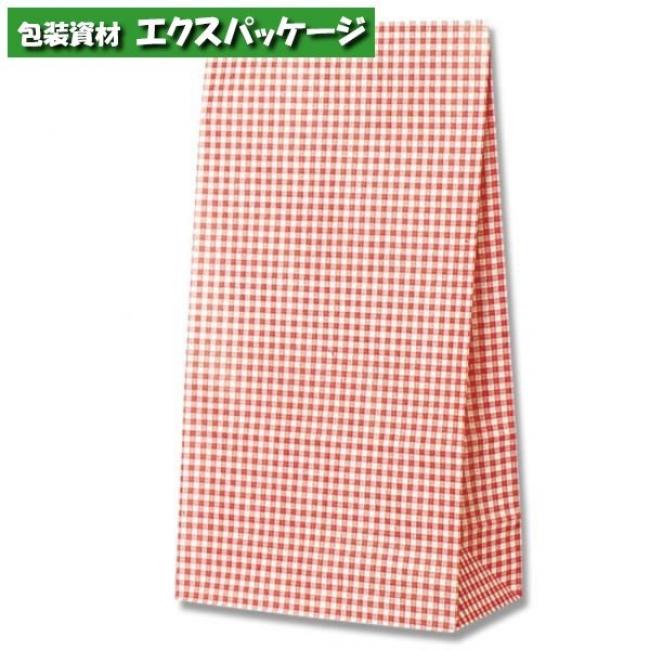角底袋 ギンガムミニ赤 No.12 1000枚入 #004042200 ケース販売 取り寄せ品 シモジマ