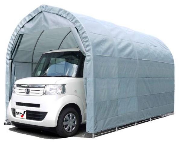 パイプ車庫 軽用 ベース式車庫 幅2.5m×奥行4.0m×高さ2.5m GR色 1台用パイプ車庫送料無料 DIY
