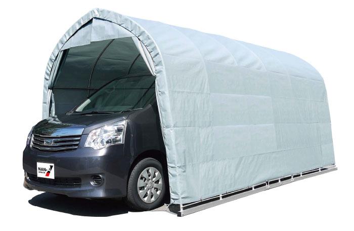 パイプ車庫 中型BOX用 ベース式車庫 幅2.7m×奥行4.8m×高さ2.5m GR色 1台用パイプ車庫送料無料 DIY