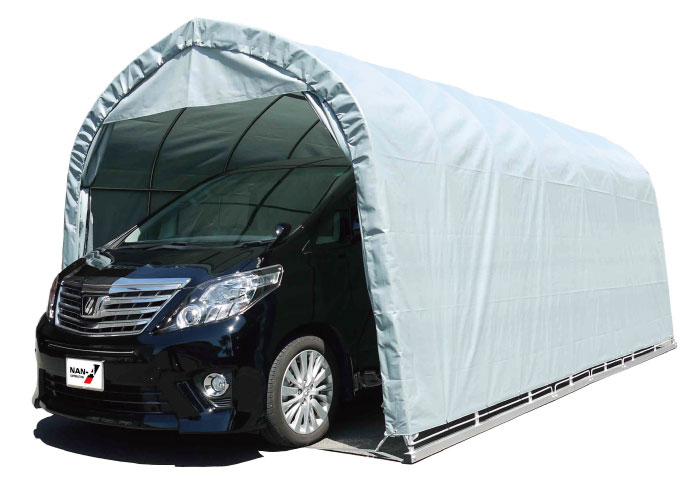 パイプ車庫 大型BOX用埋込み式 幅3.2m×奥行5.6m×高さ2.6m GR色 1台用パイプ車庫送料無料 DIY
