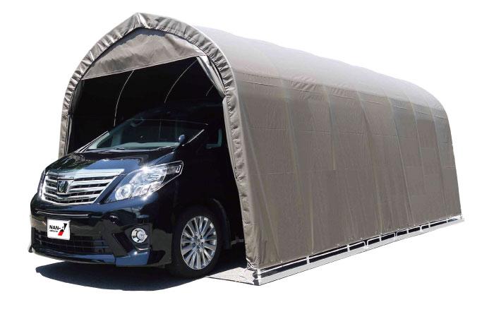パイプ車庫 大型BOX用埋込み式 幅3.2m×奥行5.6m×高さ2.6m SB色 1台用パイプ車庫送料無料 DIY